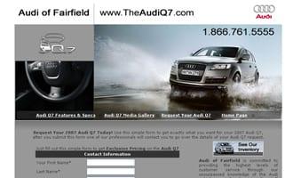 Audi Q7 Micro Site