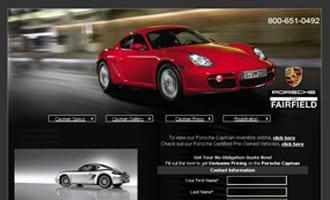 Porsche Cayman Micro Site